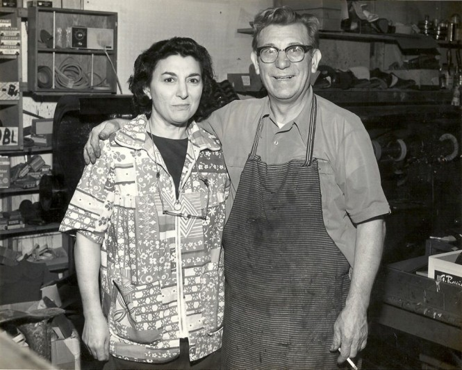 My Paternal Grandparents, in their shop, circa 1960s